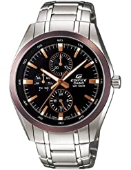 Casio Mens Edifice Series Multi Function Analog Sports Ef338db-1avdf Stainless Steel