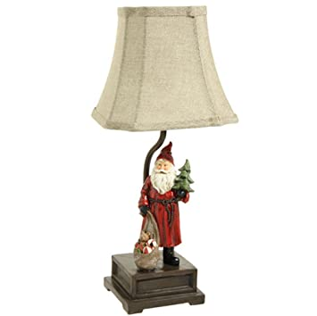 Amazon vintage style santa with toy bag christmas table lamp vintage style santa with toy bag christmas table lamp with shade 17 inch aloadofball Image collections