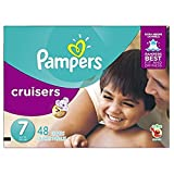 Pampers Cruisers Disposable Diapers Size 7, 48 Count, SUPER