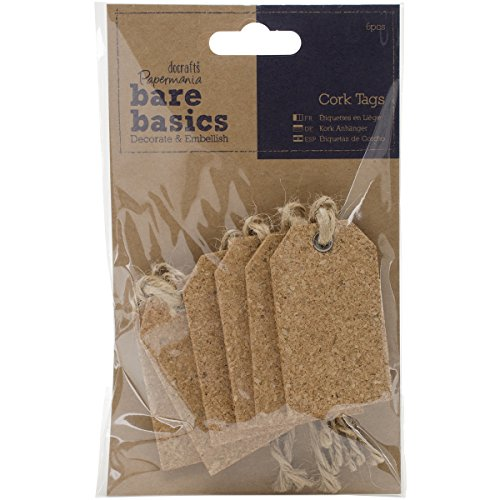 Cork Tags (docrafts Papermania Bare Basics Cork Tags Gift)
