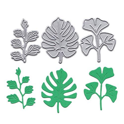 (Mikilon Metal Die Cutting Dies Cut Handmade Stencils Template Embossing for Card Scrapbooking Craft Paper Decor Window Teapot Criss Cross Leaf Monster)