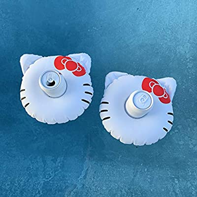 #GETFLOATY Inflatable Hello Kitty Pool Float with Cup Holder   Level-up Your Birthday Party Games!: Toys & Games