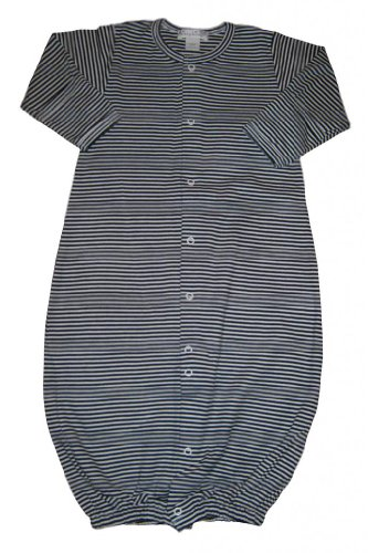 Kissy Kissy Baby Essentials Striped Convertible Gown-Navy-Newborn