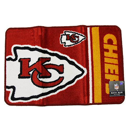 City Bath - The Northwest Company Kansas City Chiefs Bath Rug Door Mat NFL Licensed 20