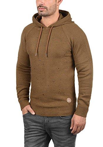 Hombre Para solid Algodón Cinnamon 100 Con Balduin Suéter Punto Sudadera Capucha De Jersey 5056 w0nxpqnaR