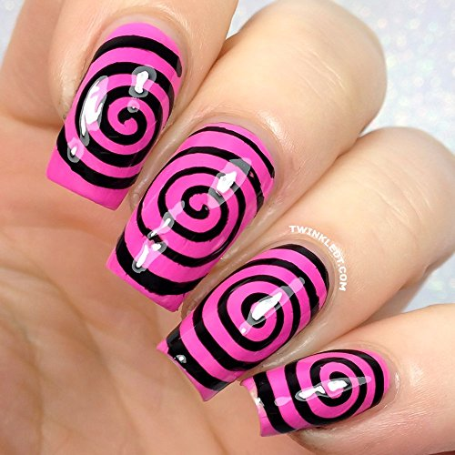 Original Cyclones Nail Vinyls By Twinkled T - 1 Sheet of 48 (2 in Each Circle)