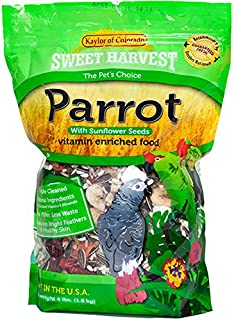 product image for Sweet Harvest Parrot Bird Food (with Sunflower Seeds), 4 lbs Bag - Seed Mix for a Variety of Parrots