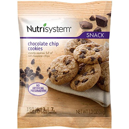 Nutrisystem Snack Chocolate Chip Cookies, 4 Cookies (4) by Nutrisystem