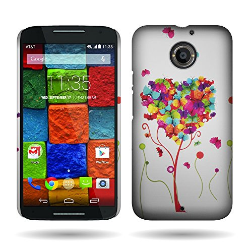 Motorola Moto X (2nd Generation) Case, By CoverON® Butterfly Heart Design Case Protective Cover For Motorola Moto X (2nd Gen.) 2014