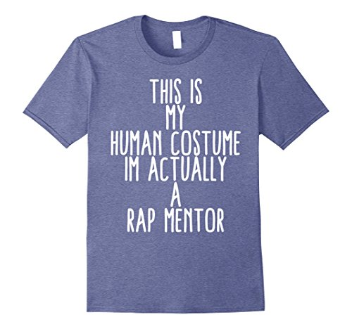 Mens Human Costume Rap Mentor Hip Hop Coach Rapper Gift Shirt 2XL Heather Blue