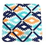 quilted picture board - Bacati Aztec Fabric Memory/Memo Photo Bulletin Board, Aqua/Orange/Navy