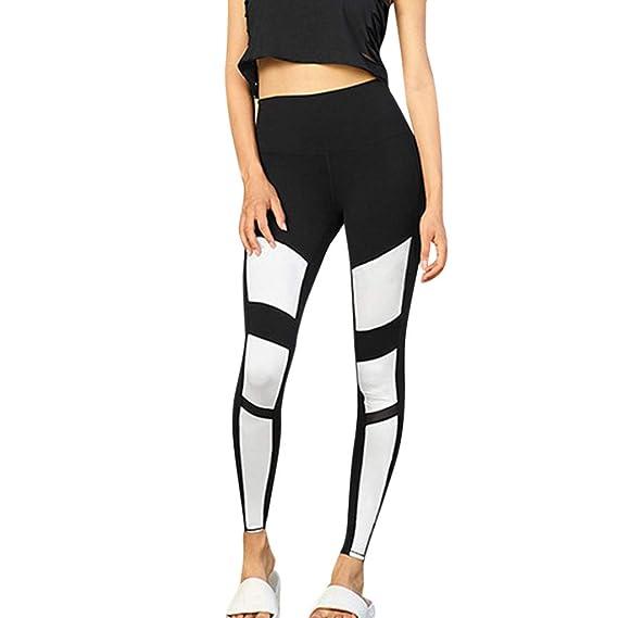 Pantalons De Yoga Respirants pour Femmes,Mounter 2019 Pantalon de Sport  Leggings Skinny Sechage Rapide b1941d8acf97