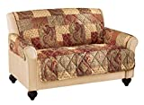 Paisley Floral Patchwork Furniture Protector Cover, Brown, Loveseat