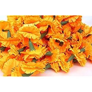 Genx 5 Feet Long Strands Marigold Garlands, Flower Garland, Indian Wedding Flowers, Diwali Marigold, Set of 5, Party Decor, Wedding, Deepavali 10