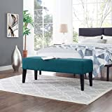 Modway EEI-2556-TEA Connect Wood Bench, Teal