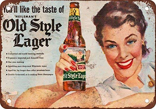 - Printt Heilemans Old Style Lager Vintage Look Reproduction Metal Signs 12X16 Inches 2