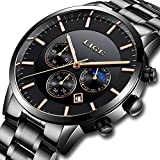 Watches,Mens Full stainless steel Luminous Quartz Watch Fashion Casual Business Dress Wristwatch Waterproof 30M Water