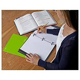 Five Star Flex Berry NoteBinder, 1-Inch Capacity, 11.5 x 11 Inches, Notebook and Binder All-in-One (72514)