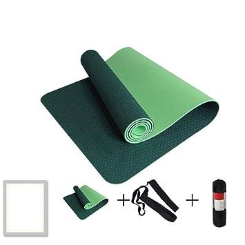 HYTGFR Esterilla de Yoga Antideslizante con Bolsa y Cuerda ...