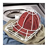 FILOL Ball Cap Cleaner for Baseball Caps Curved Bill,Plastic Hat Holder Frame Cage Basket,Hat Wash Protector Cleaning Shaper Rack