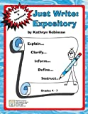 Fourth Grade Writing Activites, Prompts, Lessons | Expository Program (Just Write, 4th - 6th Grade)