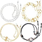 Zhanmai 8 Pieces Eyeglass Chains for Women Sunglasses Strap Reading Glasses Cords Lanyards Eyewear Retainer