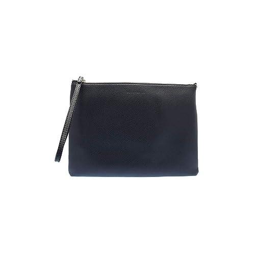b5215f48b9 Pochette con tracolla Coccinelle in vera pelle saffiano - Blu: Amazon.it:  Abbigliamento
