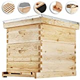 Happybuy Bee Hive 20 Frame Beehive Box 10 Deep and 10 Medium Frames