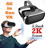 3D Virtual Reality Headset All in One, TSANGLIGHT Android 5.1 VR Headset All in One 360° View 5.5inch 2K 19201080 HD Screen - Quad Core CPU, 2GB RAM, 9 Axis Sensor (Virtual Reality No Phone Needed)