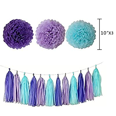 Mermaid Party Supplies - 88 Pack Mermaid Birthday Party Decorations for Girls Birthday Party Baby Shower Bridal Shower Decorations Little Mermaid Party Under the Sea Ariel Birthday Party - Premium Quality with extra added Bon