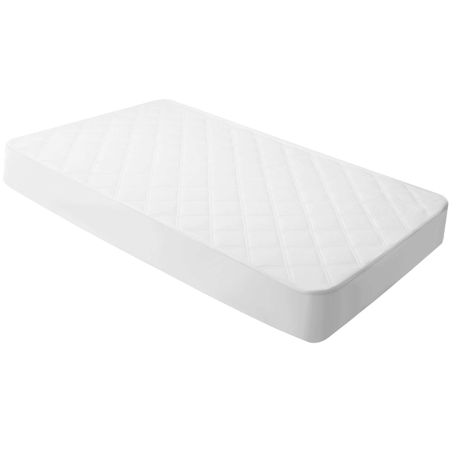 Crib Mattress Cover Waterproof Toddler Mattress Pad Protector Quilted Fitted Cover for Standard Crib 28x52inches Breathable & Hypoallergenic by YOOFOSS