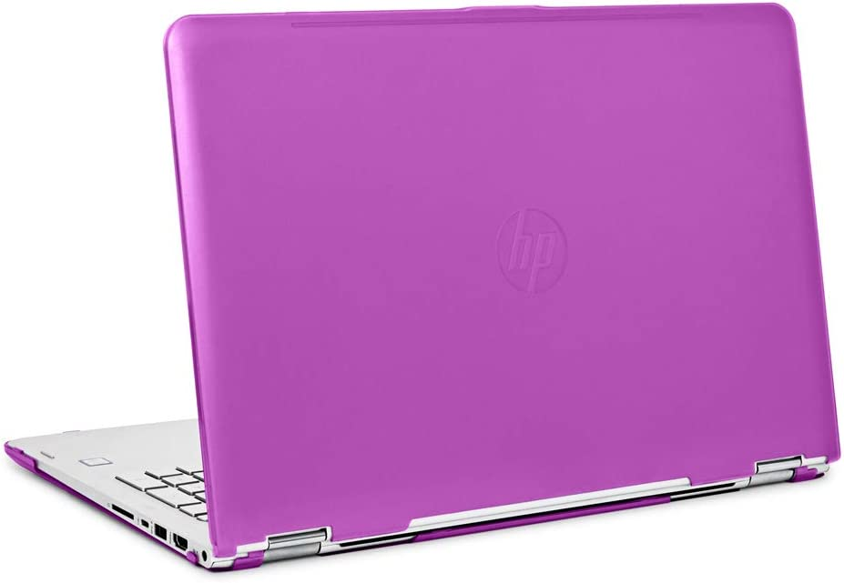 "mCover iPearl Hard Shell Case for 15.6"" HP Envy X360 15-AQxxx / M6-AQxxx Series (15-AQ173cl / m6-AQ103dx, etc) Convertible laptops (X360-15-AQ Purple)"