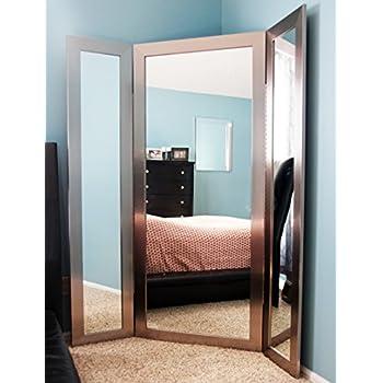 Amazon.com: BrandtWorks BM1TRIFOLD Modern Tri-Fold Mirror, Silver ...