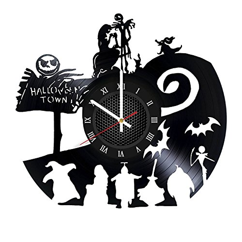 Nightmare before Christmas Halloween Vinyl Record Wall Clock . Get unique home room wall art decor. Cool gift ideas for boys, girls, kids, teens, men and -