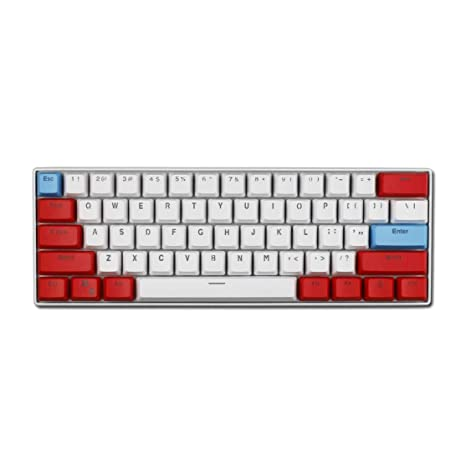Taide 61 Key ANSI Layout OEM Profile PBT Thick Keycaps for 60% Mechanical  Keyboard (Color 9)