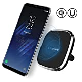 Nillkin Car Magnetic Wireless Charger, 2-in-1 Car Mount Air Vent Holder & Qi Wireless Charging Pad[2nd Generation] for Samsung S8/S7/Edge, iPhone 7/6/6s/Plus and More - Model A