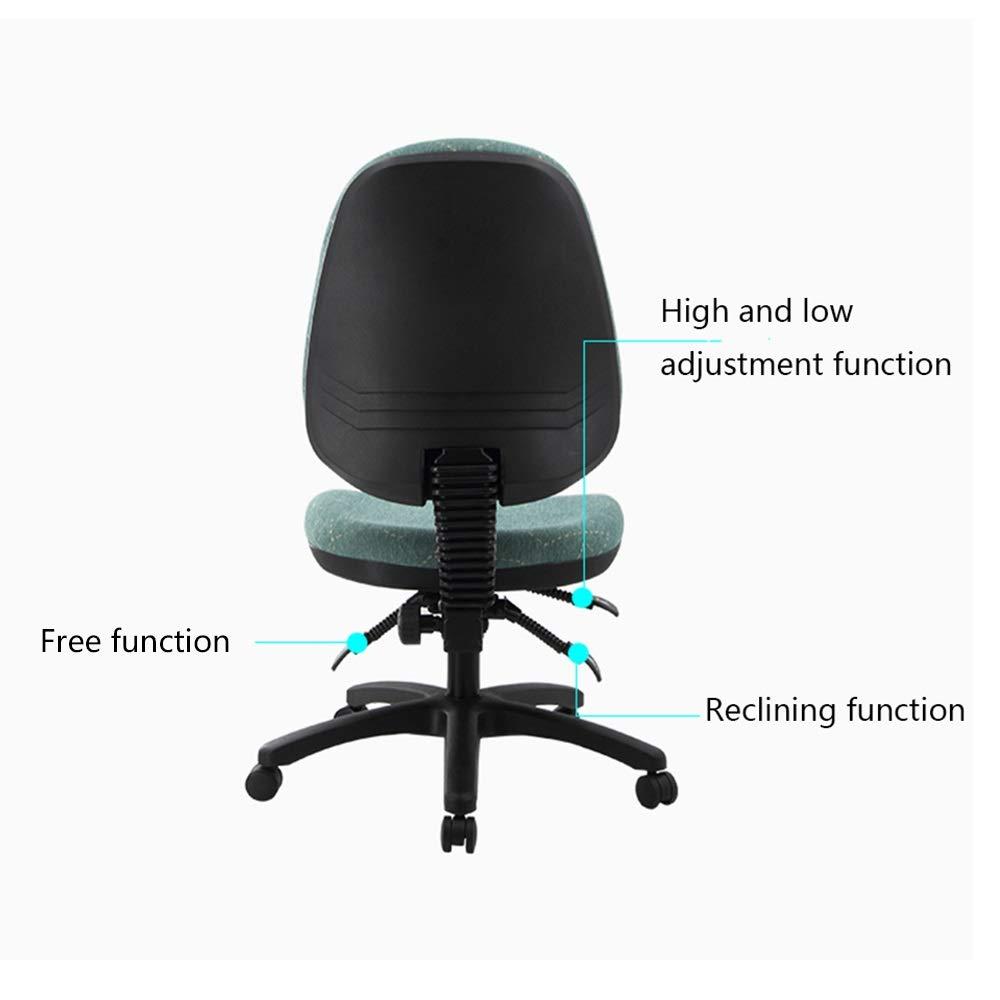 GYH svängbar stol kontor svängbar stol, halvpack ryggstöd justerbar svängbar stol för arbetsrum skrivbord studenter skriva lärande kontorsstol (färg: Gul) BLÅ