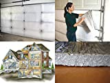 AES US Energy White Pre-Cut Inserts 2 Car Garage Door Insulation Kit Reflective Foam