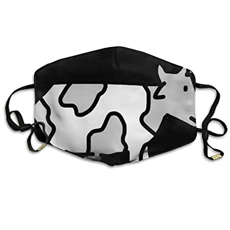 Cow Drawing Anti Dust Breathable Face Mouth Mask For Man Woman