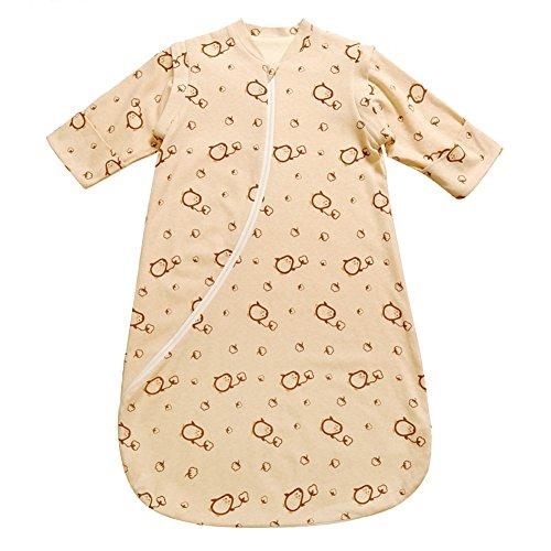 Fairy Baby Organic Cotton Detachable Long Sleeve Spring Fall Sleeping Sack(L,Penguin)