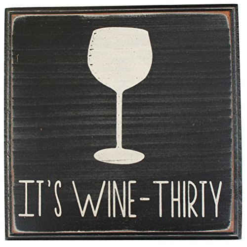It's Wine Thirty Vintage Wood Sign for Wall Decor, Wet Bar Wall Decor, Wine Cellar Sign -- PERFECT HOUSE WARMING WINE GIFTS!