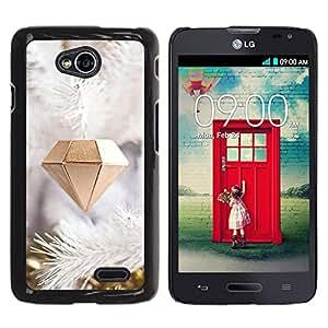 Caucho caso de Shell duro de la cubierta de accesorios de protección BY RAYDREAMMM - LG Optimus L70 / LS620 / D325 / MS323 - Diamond Christmas Decoration