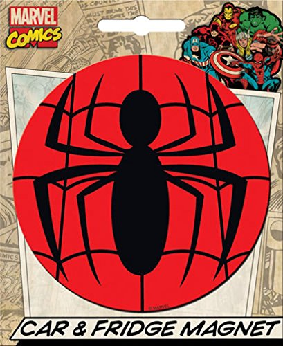 Ata-Boy Marvel Comics Die-Cut Spider-Man Logo Magnet for Cars, Refrigerators and -