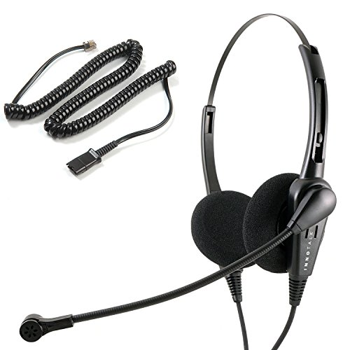 M5200 Series - Avaya Nortel Phone Headset for M2216 M2312 M3903 M3904 M3905 M5200 Series Classic Style Noise Cancelling Headset Mic with Plantronics Compatible QD
