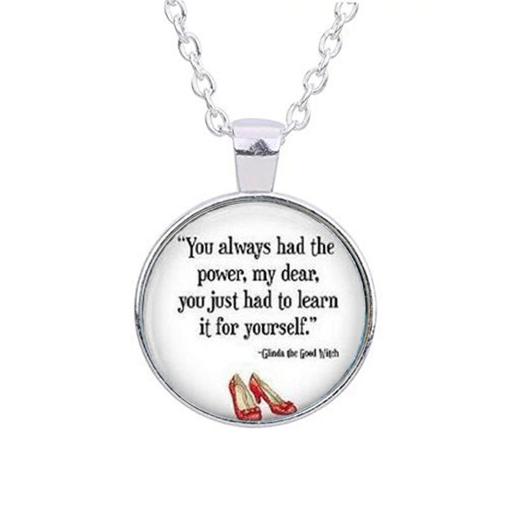 44f0965b08 You Always Had the Power Necklace, Wizard of Oz Jewelry, Wizard of Oz  Necklace, Quote Jewelry