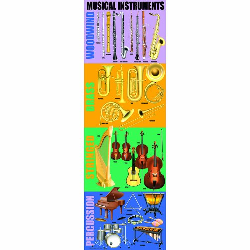 Mcdonald Publishing MC-V1651 Musical Instruments Colossal Poster