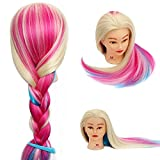 Neverland Rainbow Synthetic Hair Training Head Hair Styling Mannequin Head with Clamp