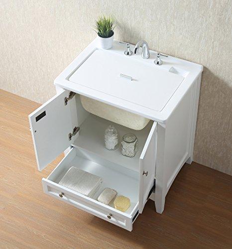 Stufurhome GM-Y01W 30.5-Inch Pure White Single Laundry Sink by Stufurhome (Image #8)