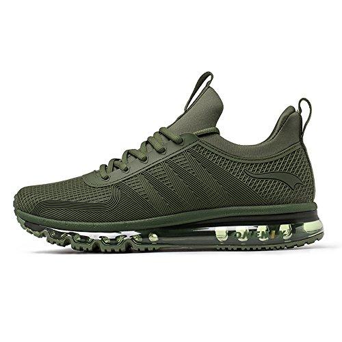 Onemix Air Cushion Sports Running Running Sneakers Walking Shoes Per Uomo E Donna Darkgreen