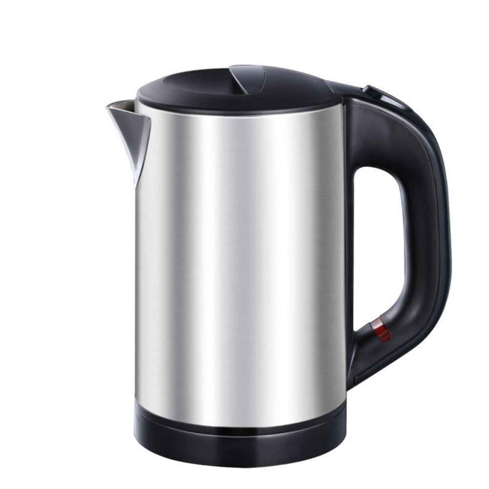 XUERUI Electric Kettles Home Food Grade Stainless Steel Electric Kettle Automatic Power Off Kettle Cordless Kettle Quickly Boil 0.6L 800W Small Appliances (Color : BLACK)